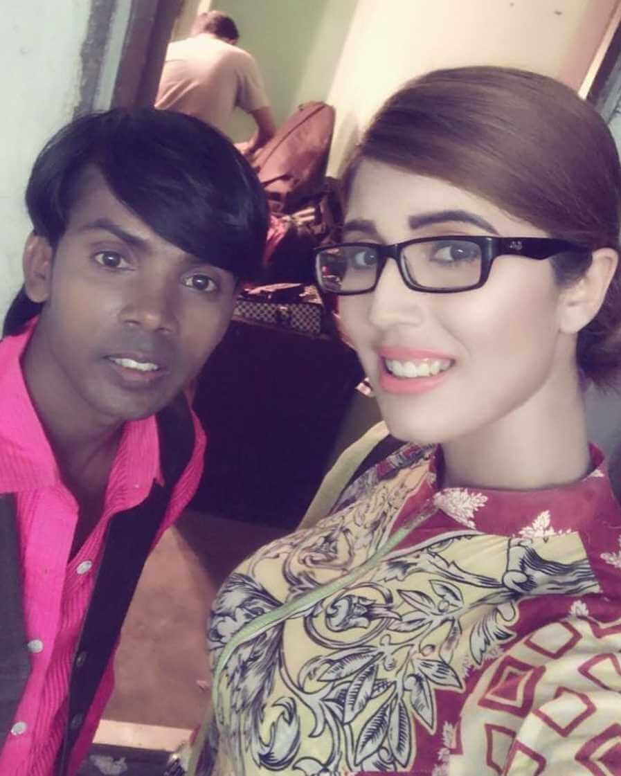 Naila Nayem with Hero Alom
