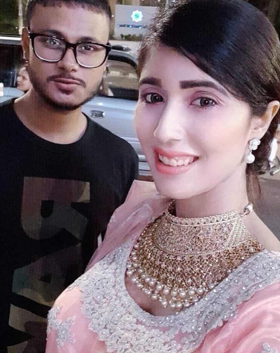 Naila Nayem with her Co-Artist Selfie