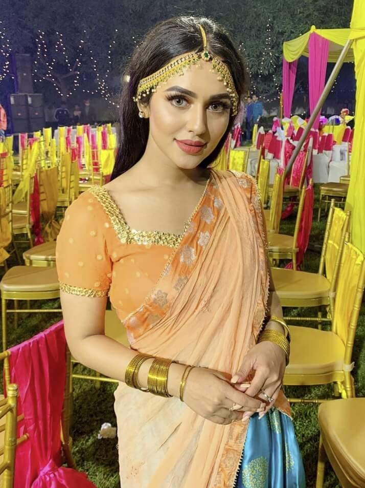 Nusraat Faria Mazhar saree photo 2021