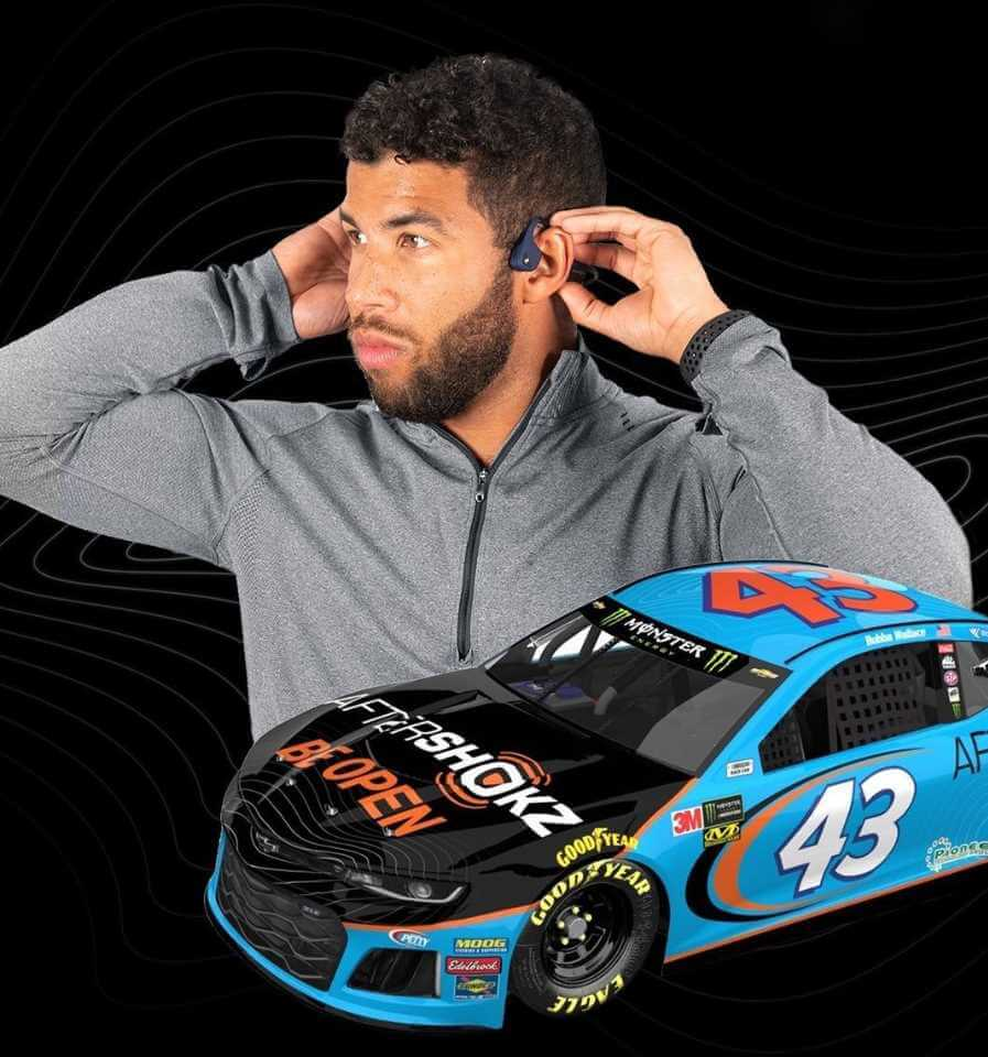 Bubba Wallace with Car Pic