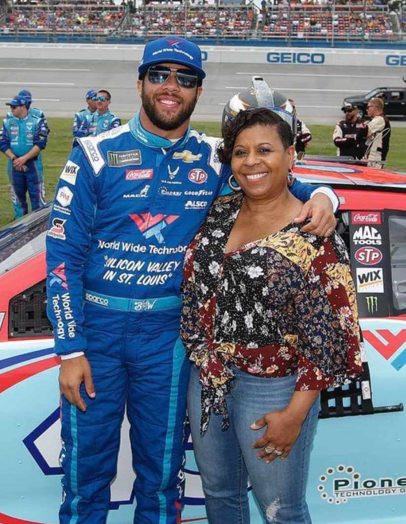Bubba Wallace with her Mother Picture