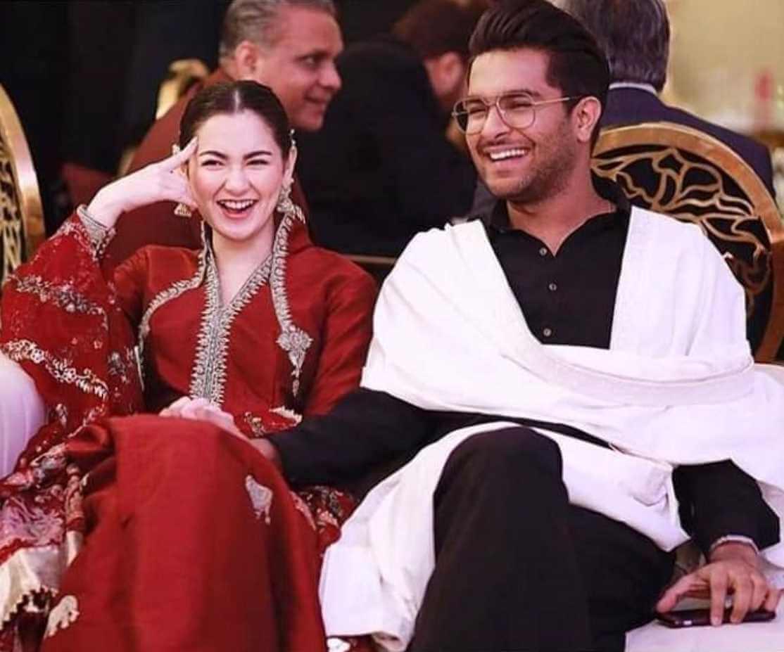Hania Aamir with Asim Azhar Photo