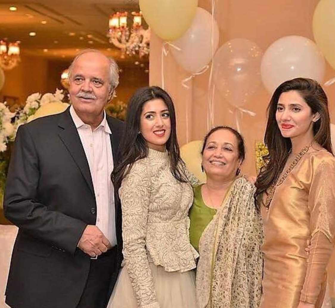 Mahira Khan Family Photo