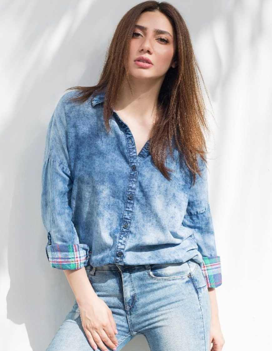 Mahira Khan Jeans Shirt Photo