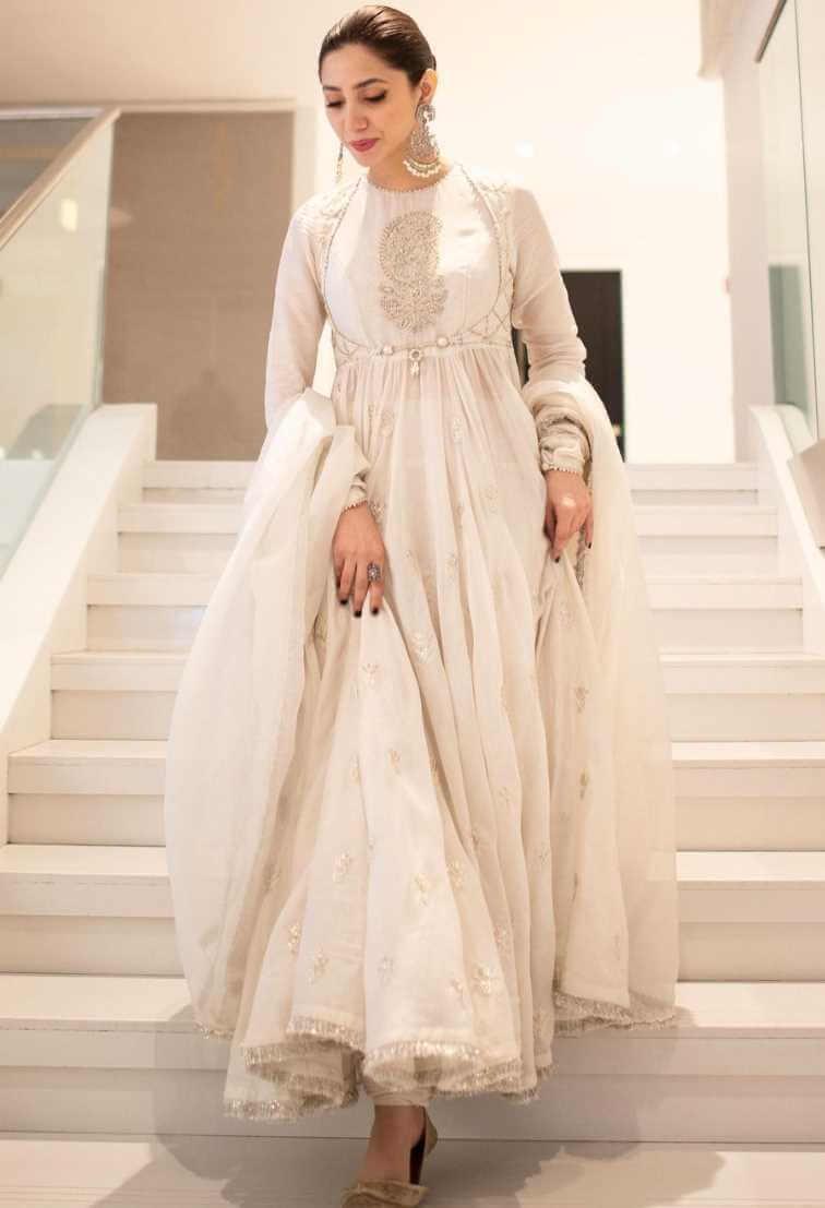 Mahira Khan White Dress Photo