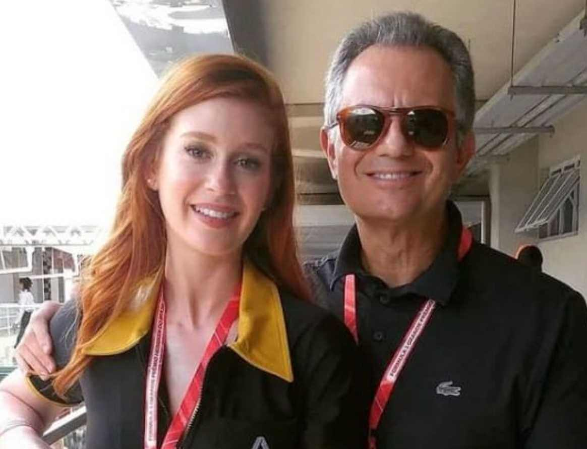 Marina Ruy with her Father Photo