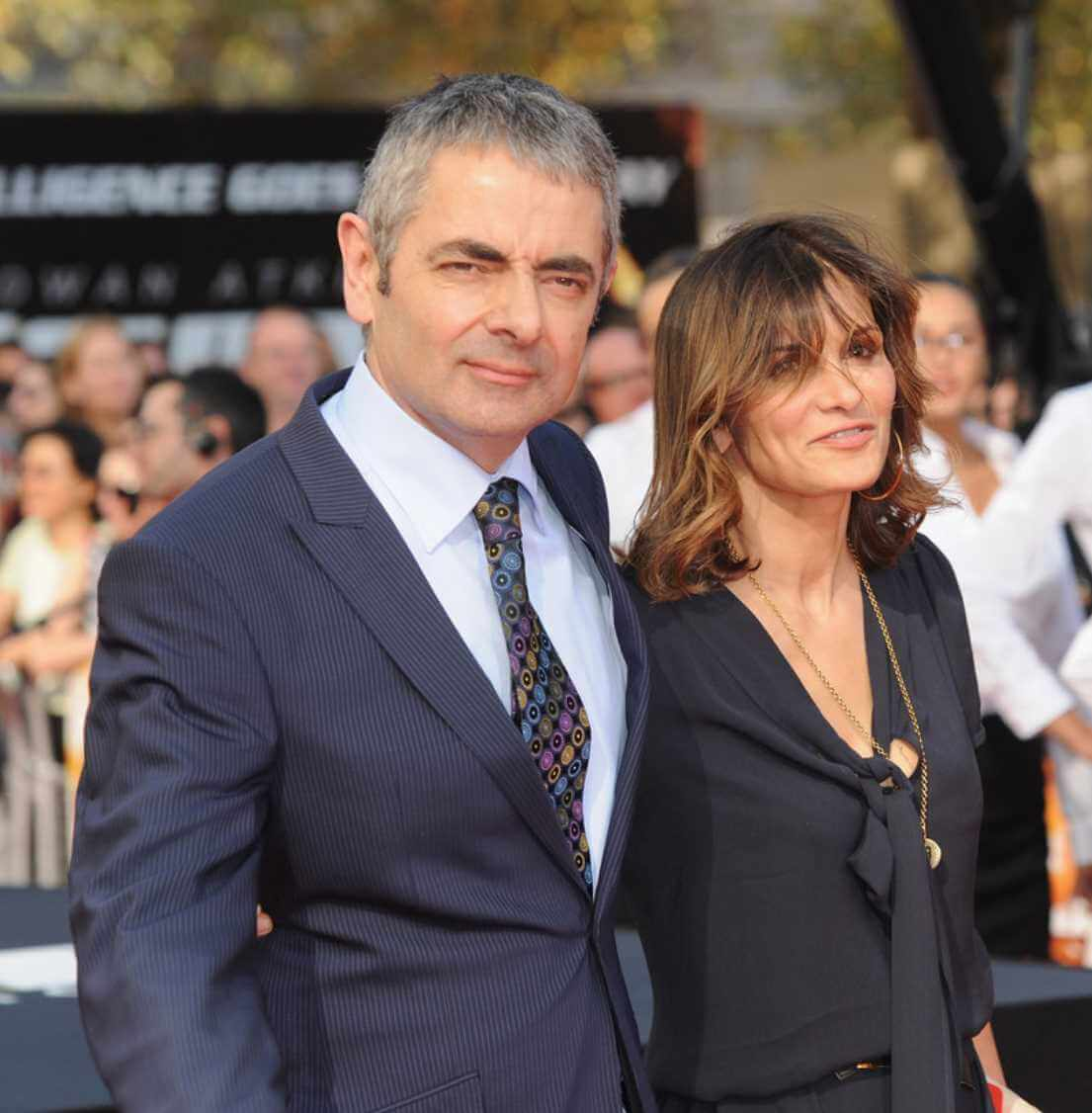 Mr. Bean with her Wife Photo