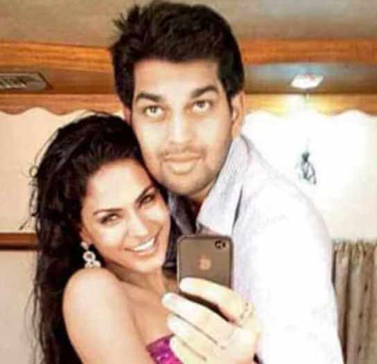 Prashant Pratap Singh with Veena Malik Image