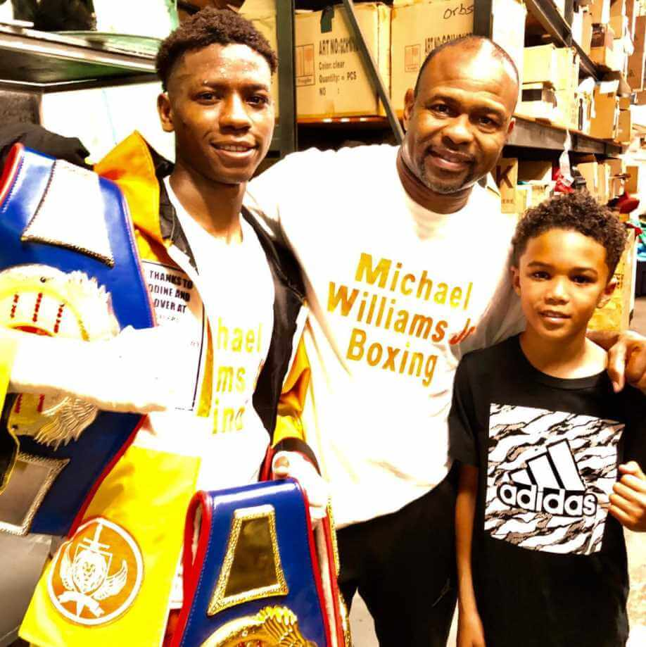 Roy Jones Jr. with her Sons Pic