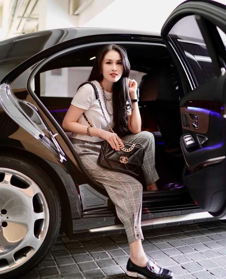 Sandra Dewi with her Car Image