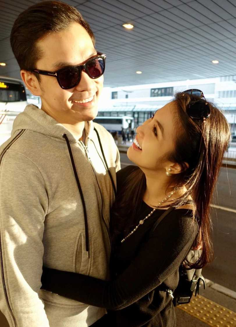 Sandra Dewi with her Husband Picture