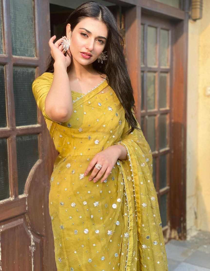 Sarah Khan Saree Picture