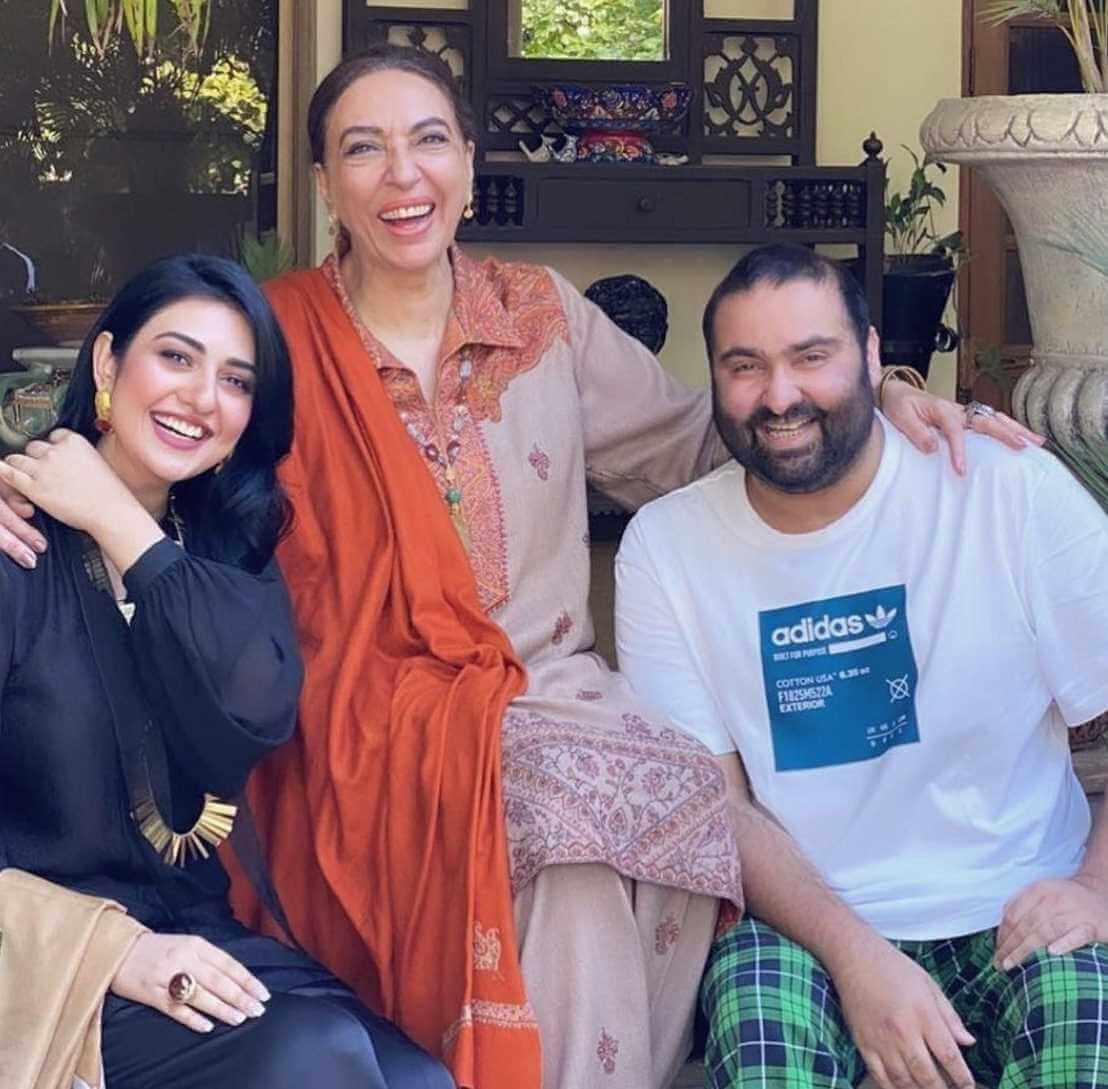 Sarah Khan Family Photo