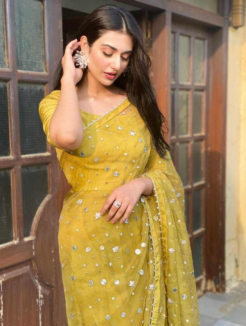 Sarah Khan New Saree Picture