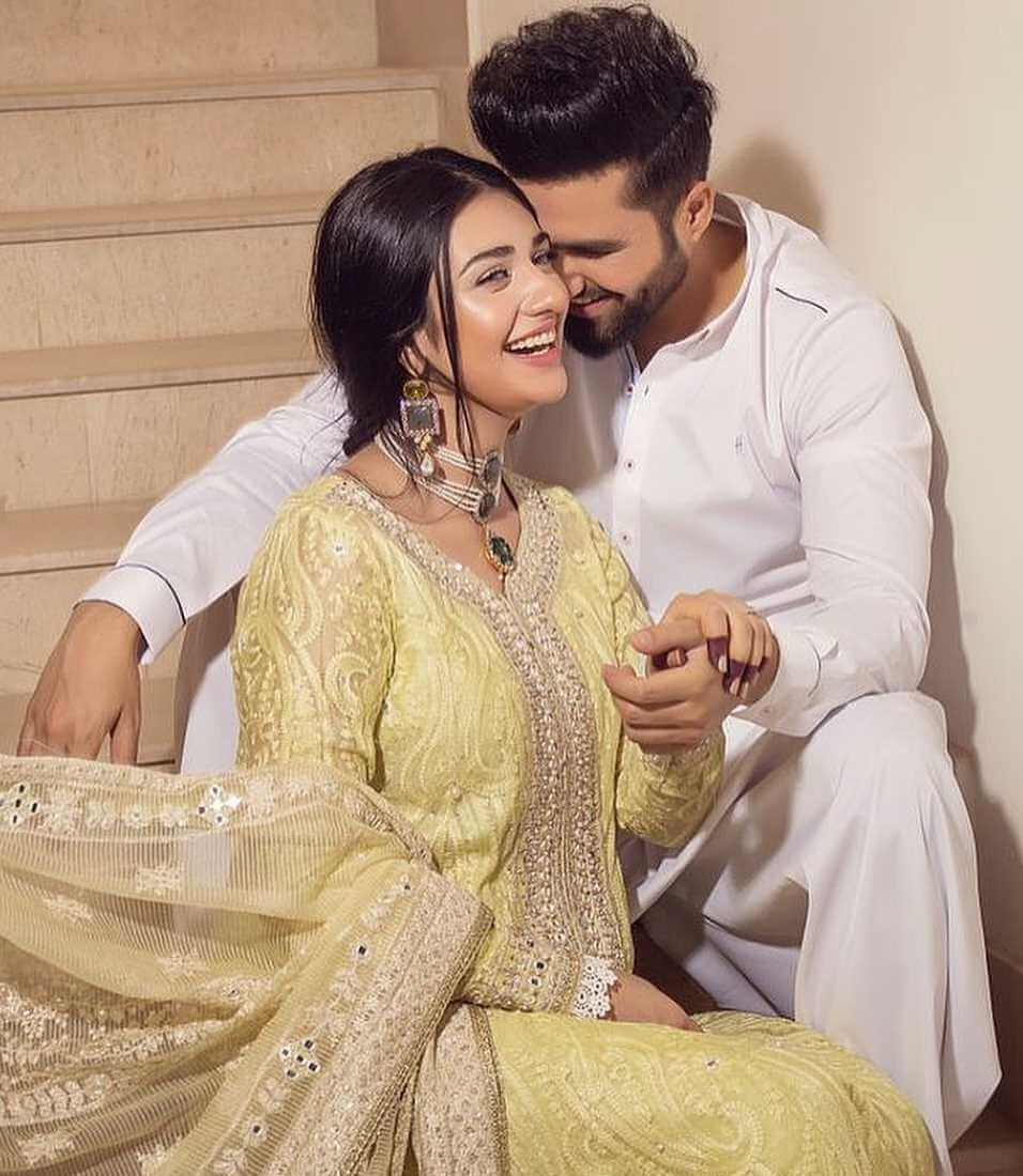 Sarah Khan With her Husband Latest photo