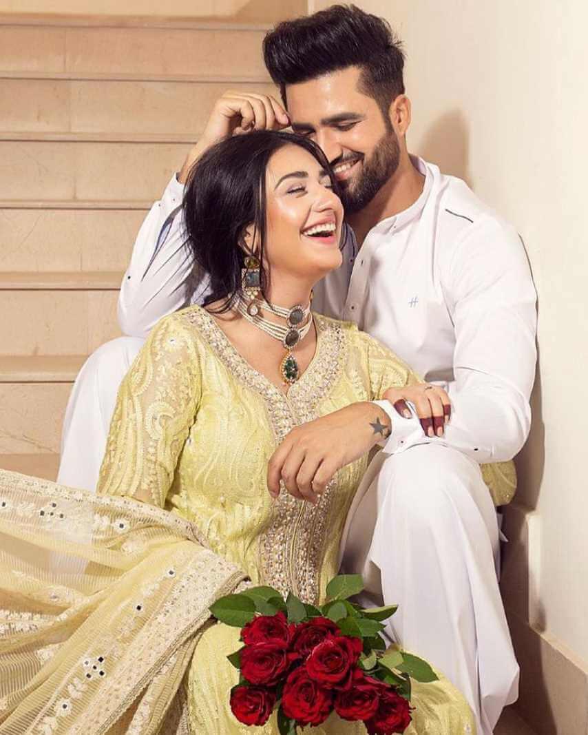 Sarah Khan With her Husband New photo