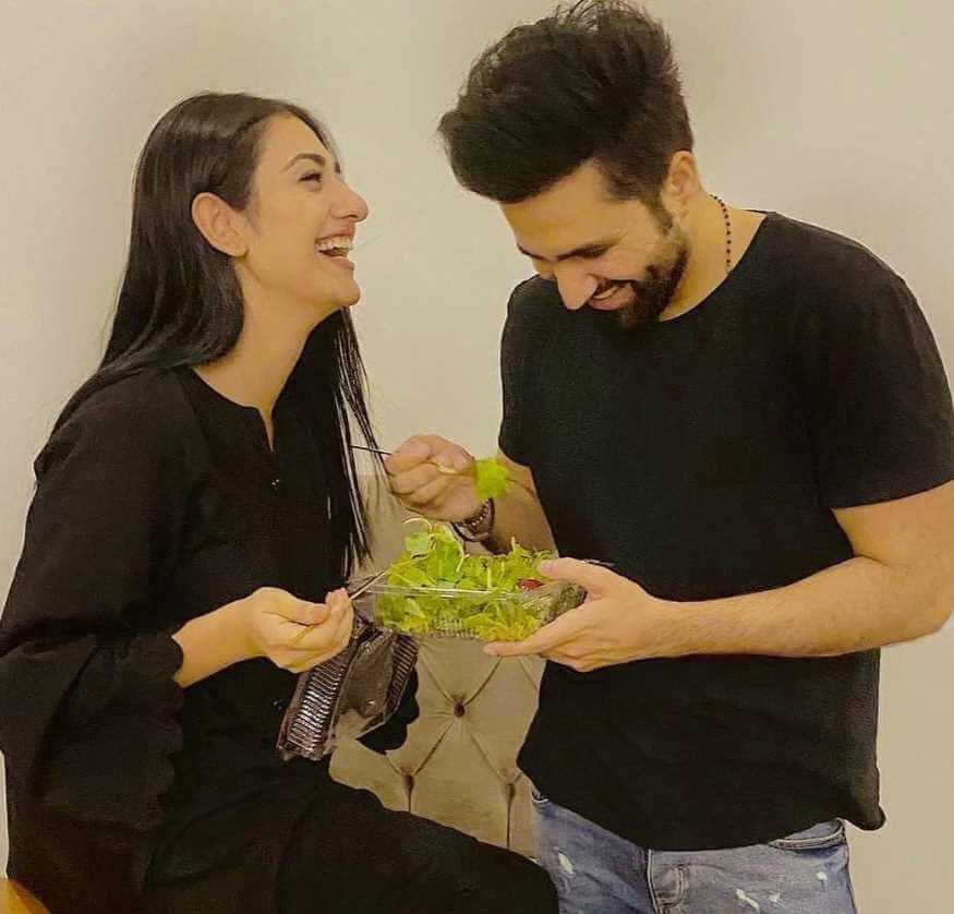 Sarah Khan With her Husband pics