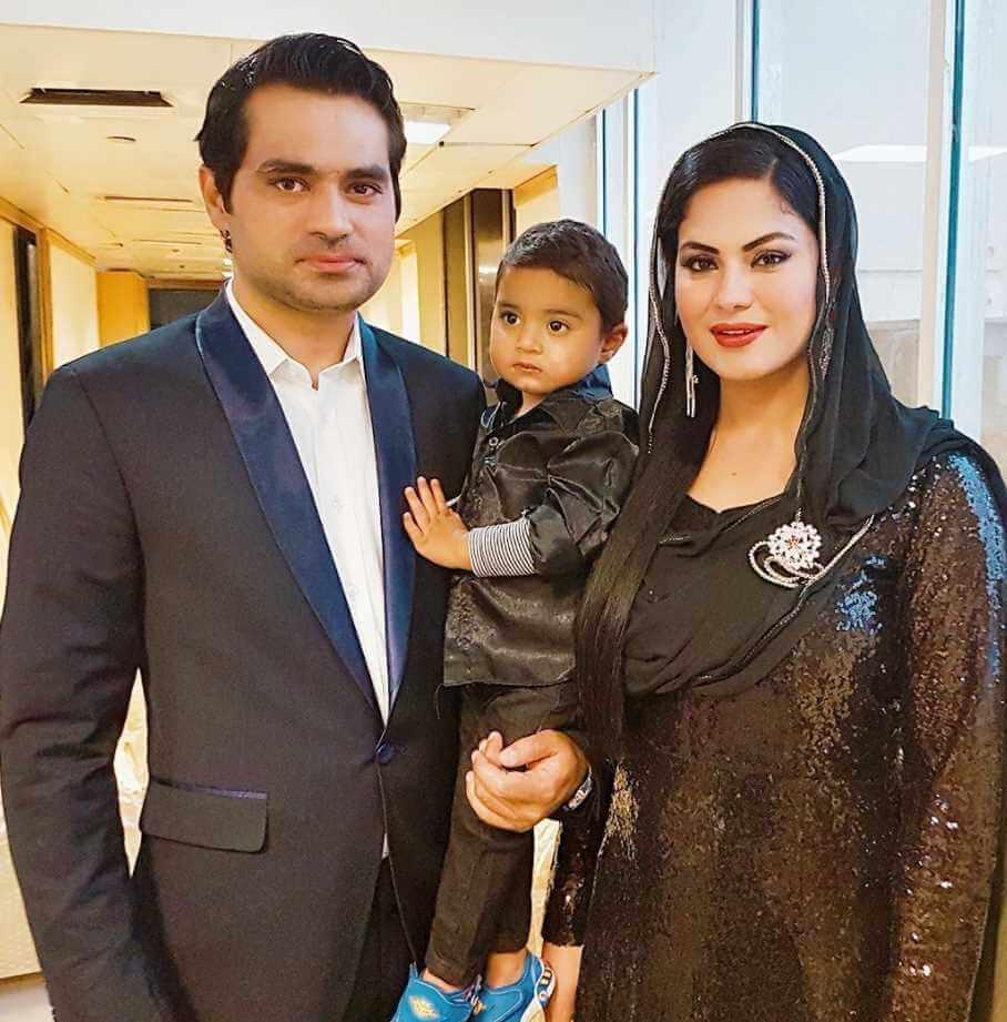 Veena Malik Family Photo