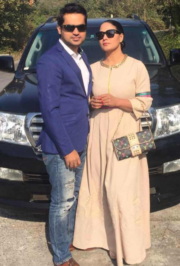 Veena Malik with her Husband Photo