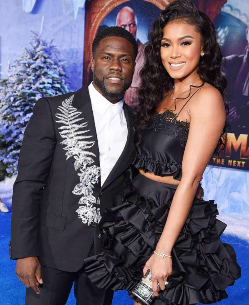 Kevin Hart with his 2nd Wife Eniko Parrish Photo