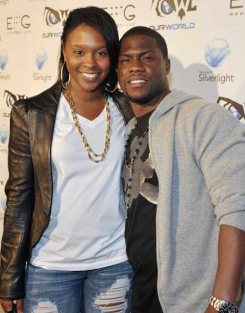 Kevin Hart with his Ex-Wife Torrei Hart Photo