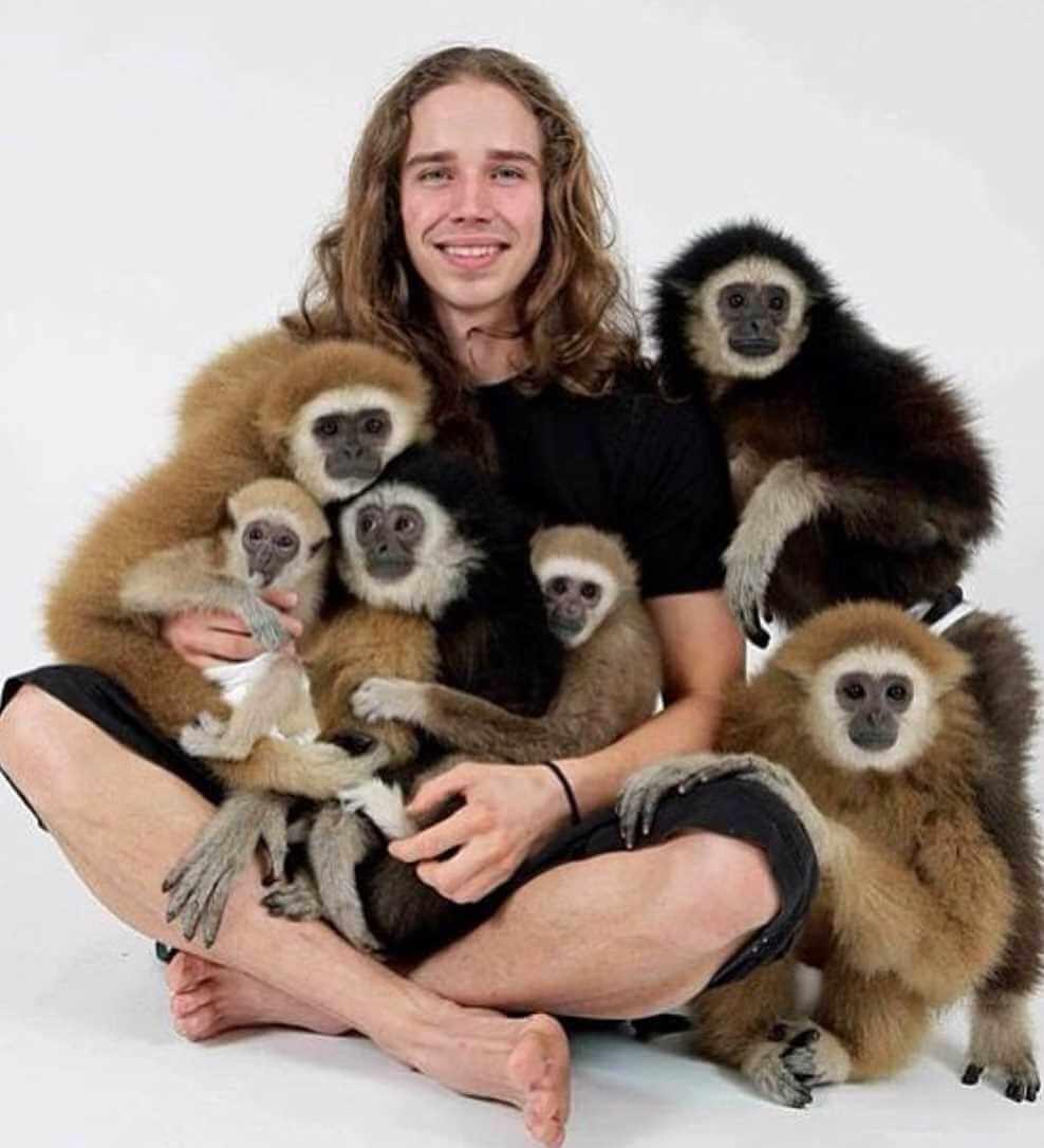Kody Antle with monkey Image