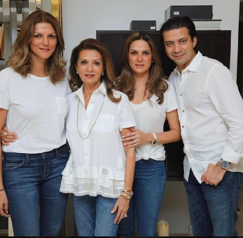 Nandita Mahtani family Photo