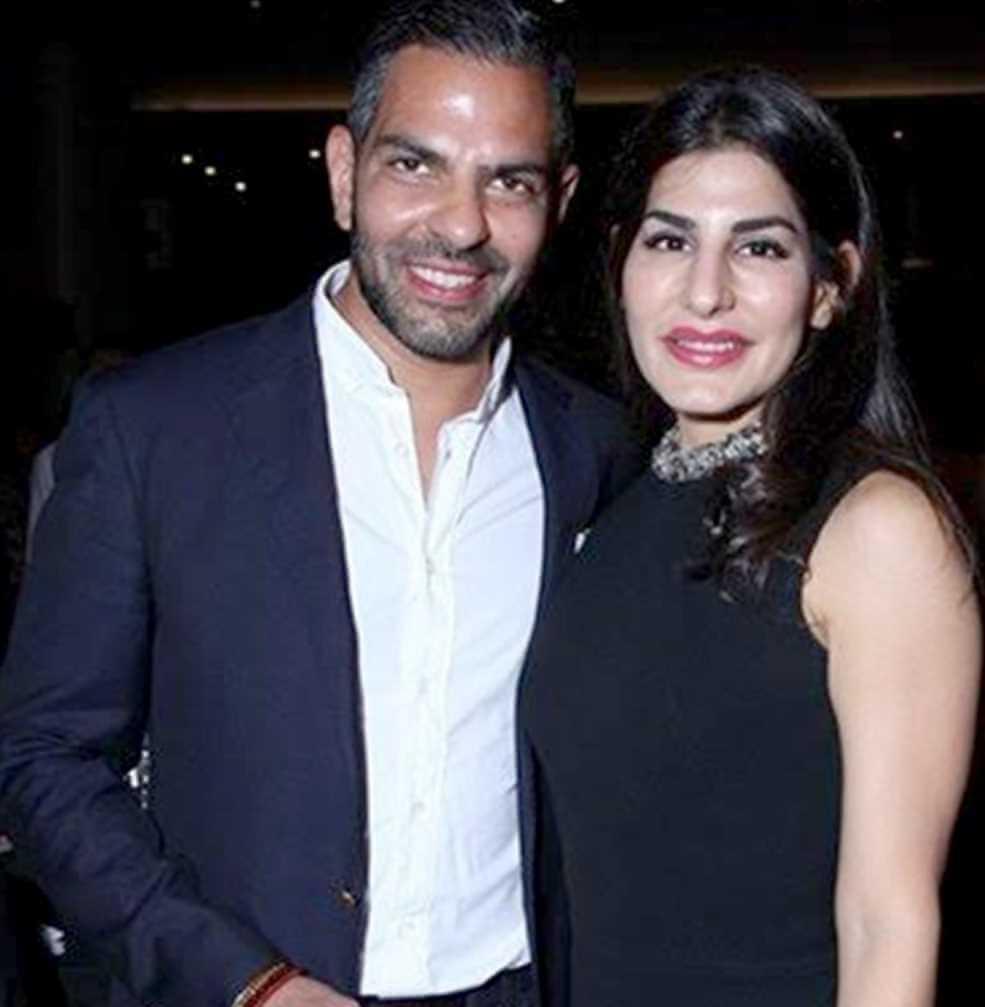 Nandita Mahtani with her Ex-Husband Photo
